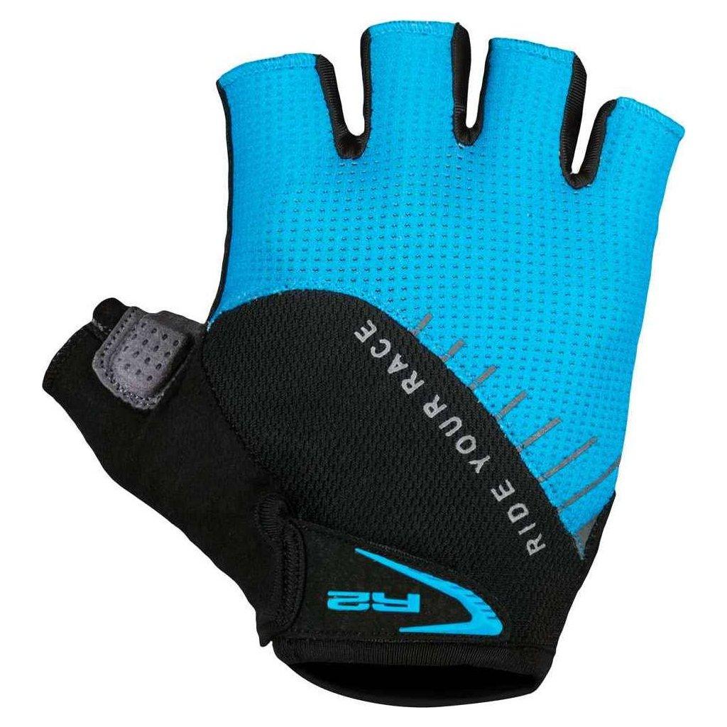 Cyklistické rukavice R2 Vouk modré