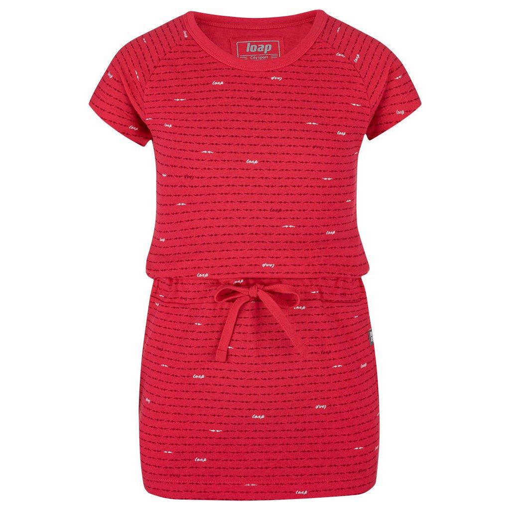 Dívčí šaty LOAP Baula červené
