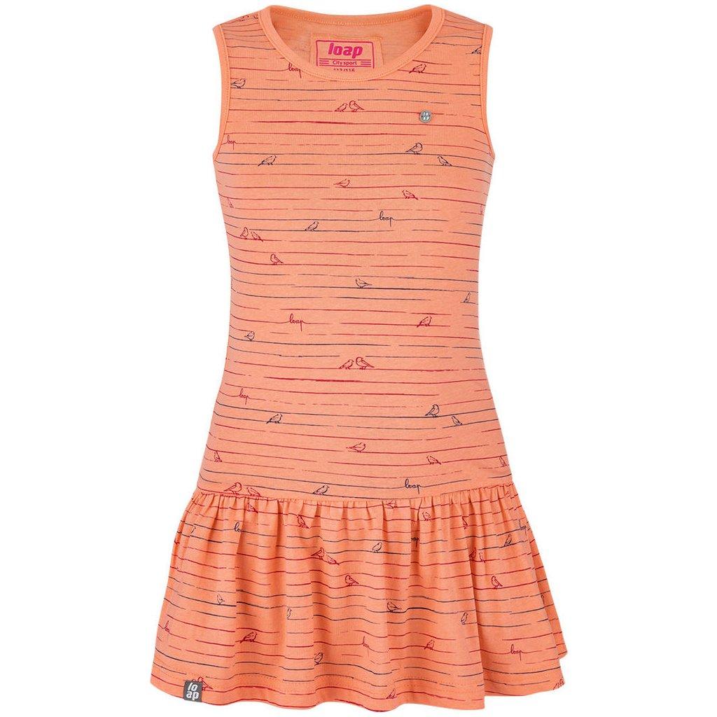 Dívčí šaty LOAP Barisa oranžové
