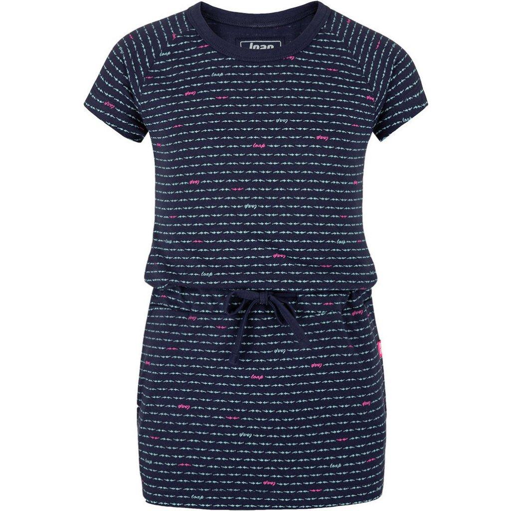 Dívčí šaty LOAP Baula modré
