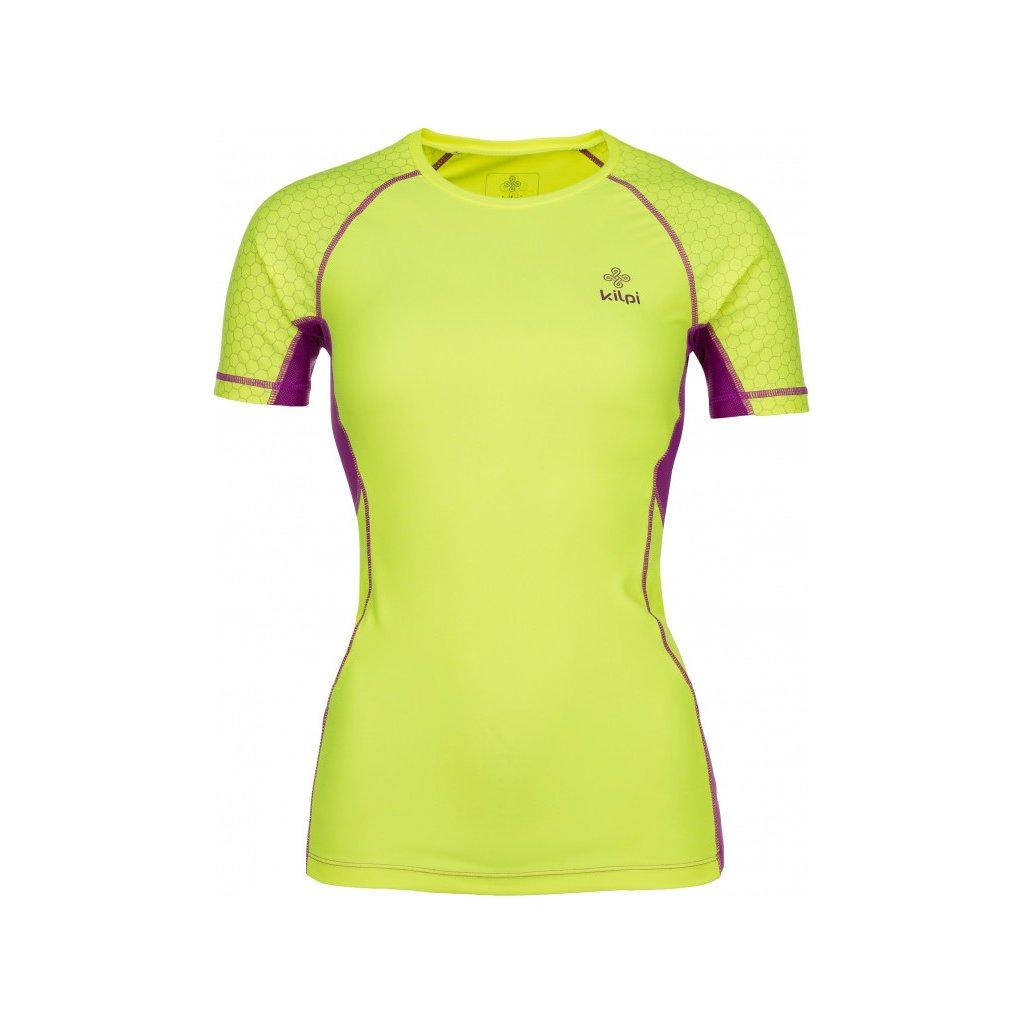 Dámské funkční tričko KILPI Combo-w s krátkým rukávem žluté