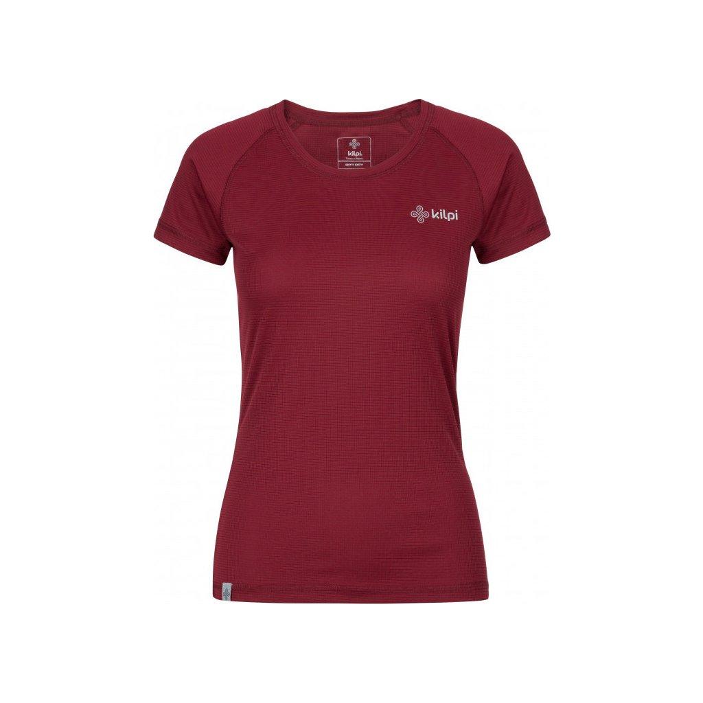 Dámské funkční tričko KILPI Border-w s krátkým rukávem tmavě červené