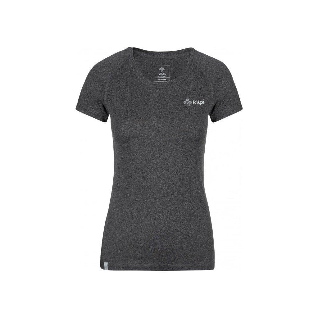 Dámské funkční tričko KILPI Border-w s krátkým rukávem tmavě šedé