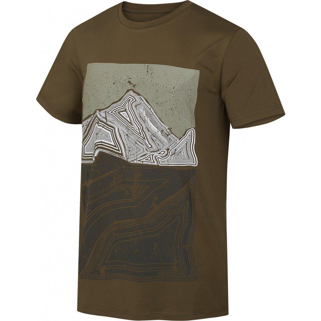 Pánské triko HUSKY  Tash M tm. olivová