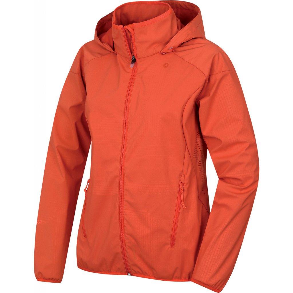 Dámská softshellová bunda HUSKY Sally L výrazně oranžová