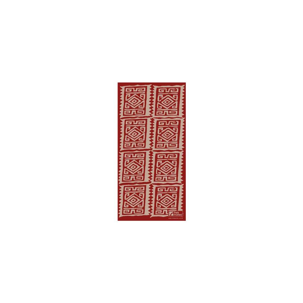 Šátek YATE Trekmates Choob Aztec Deep Red
