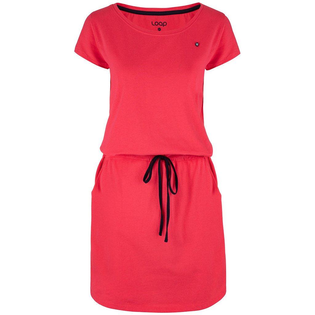 Dámské sportovní šaty LOAP Banny růžové