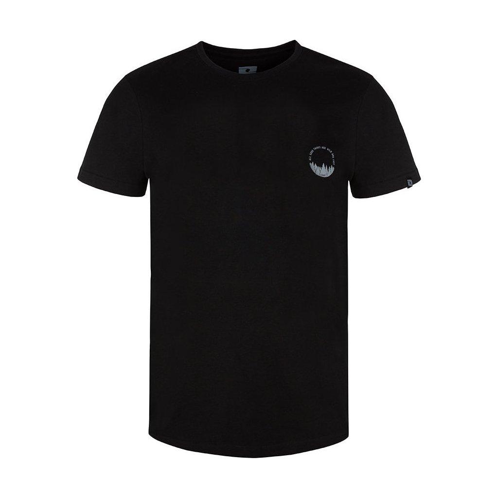 Pánské triko LOAP Bodum s krátkým rukávem černé