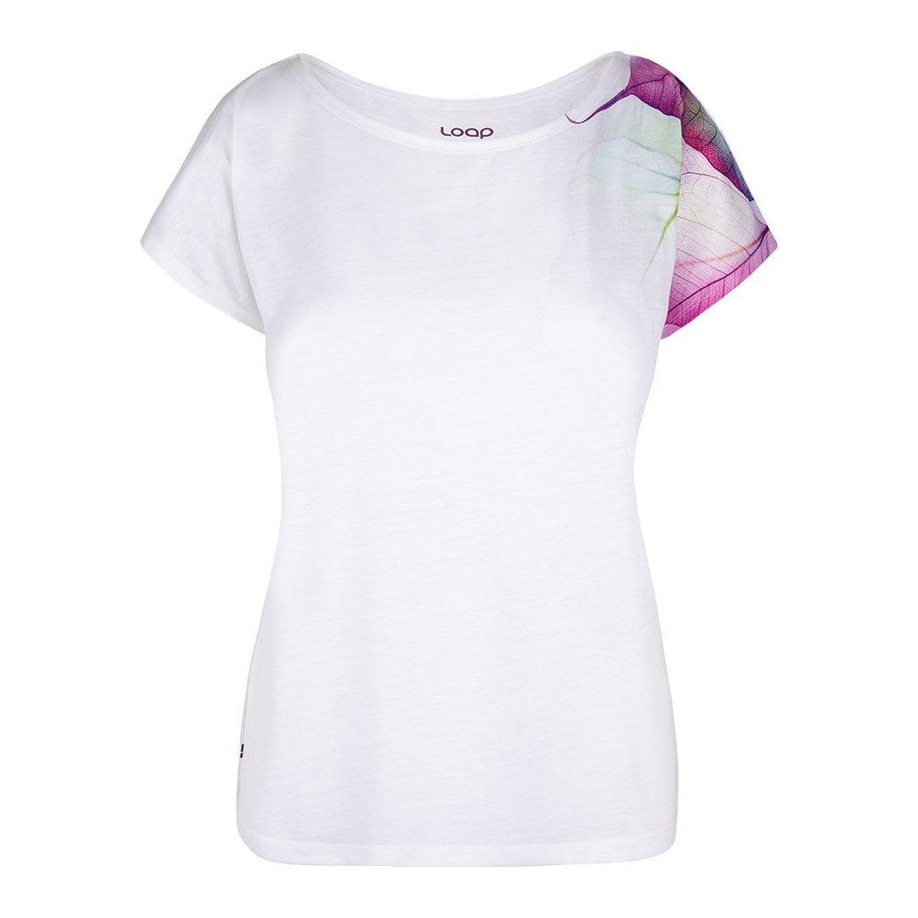 Dámské triko LOAP Alexi s krátkým rukávem bílé