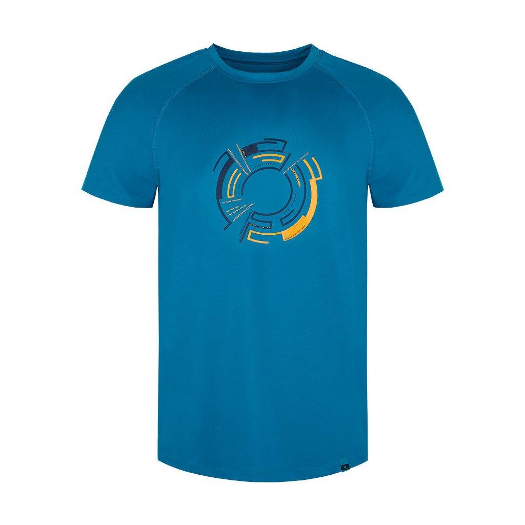Pánské funkční triko LOAP Merty s krátkým rukávem modré