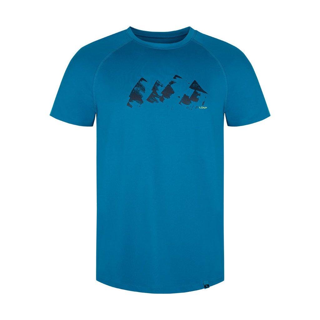 Pánské funkční triko LOAP Meneto s krátkým rukávem modré