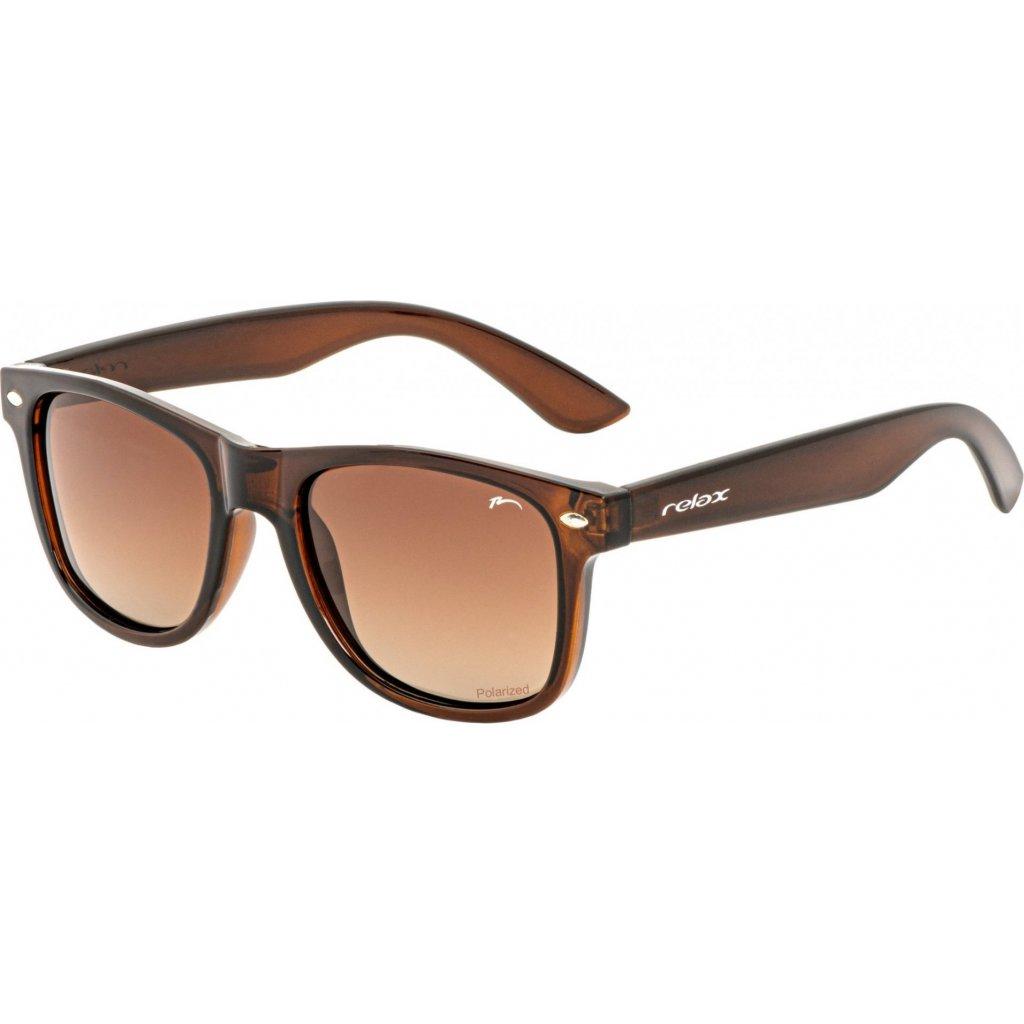 Sluneční brýle RELAX Chau hnědá