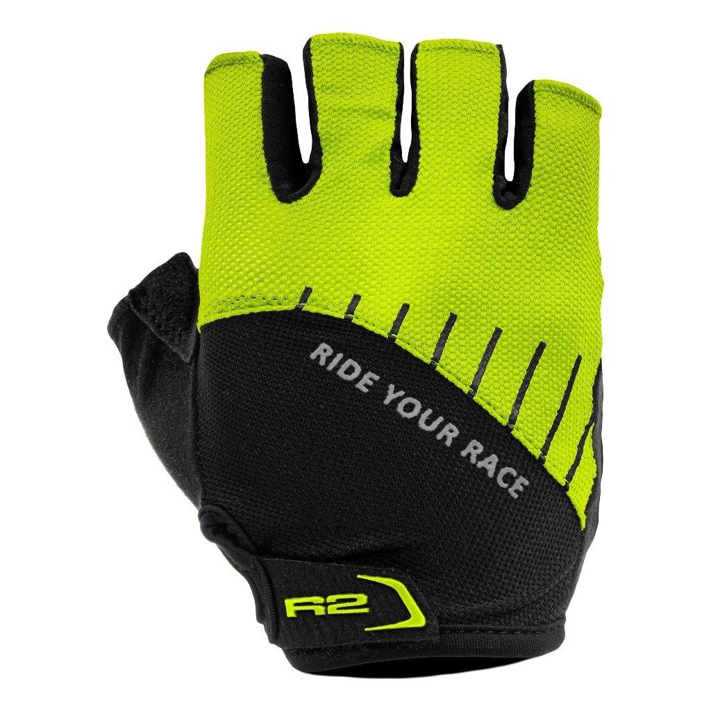 Cyklistické rukavice R2 Vouk žluté