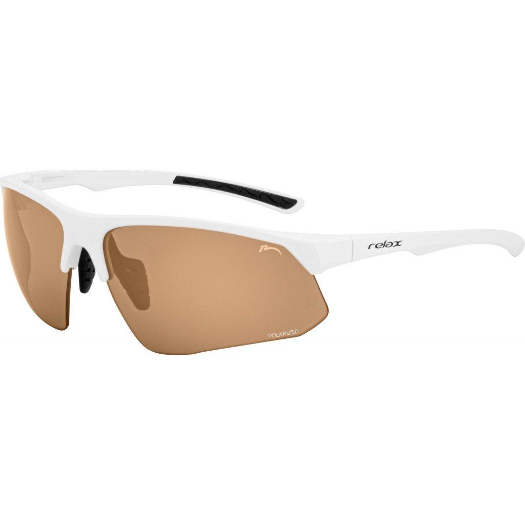 Sportovní sluneční brýle RELAX Wirral bílé