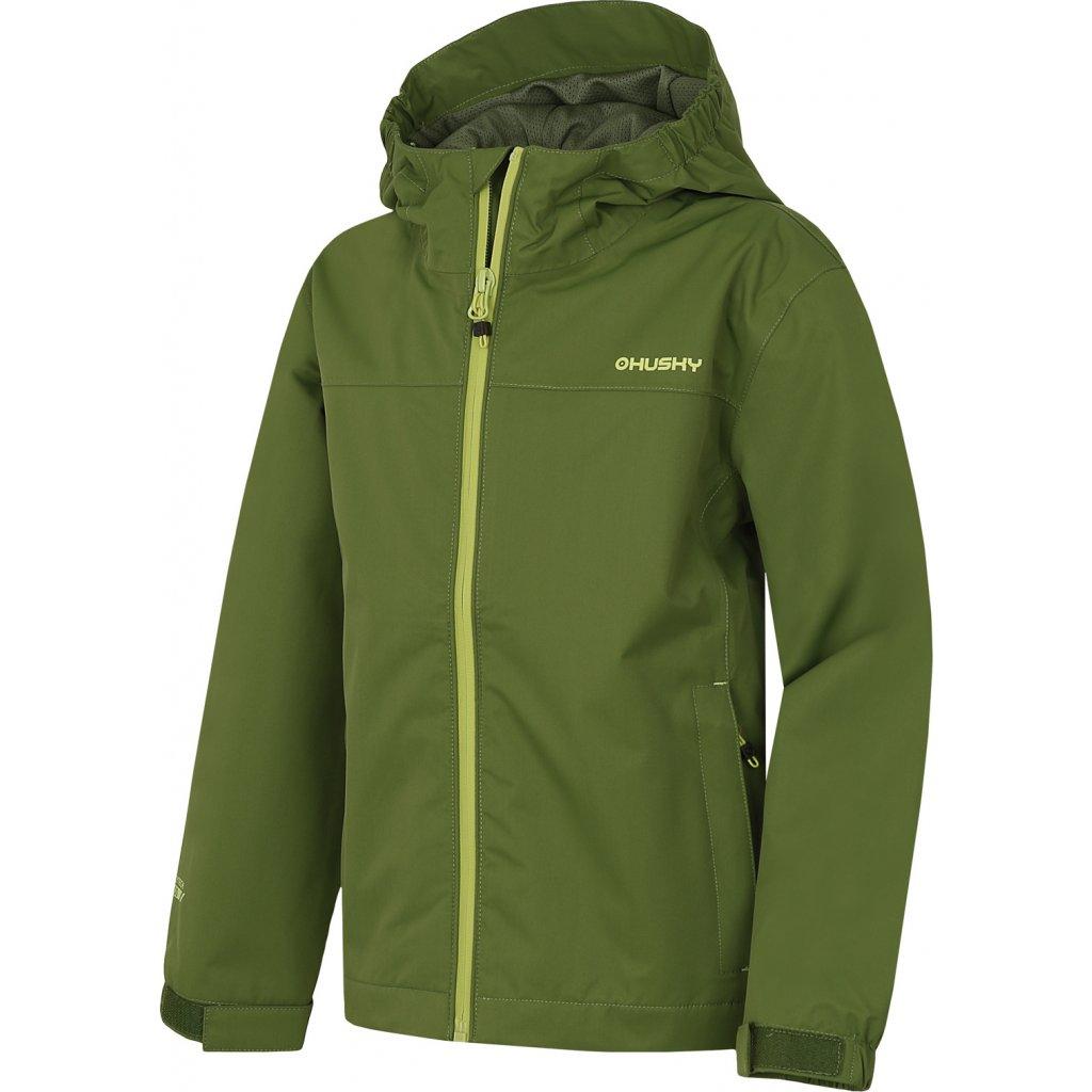 Dětská outdoorová bunda HUSKY Zunat Kids tm. zelená