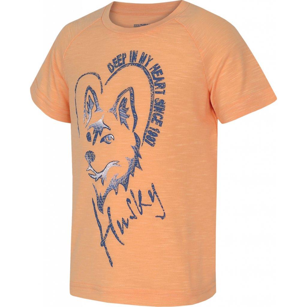 Dětské triko HUSKY Zingl Kids lososová
