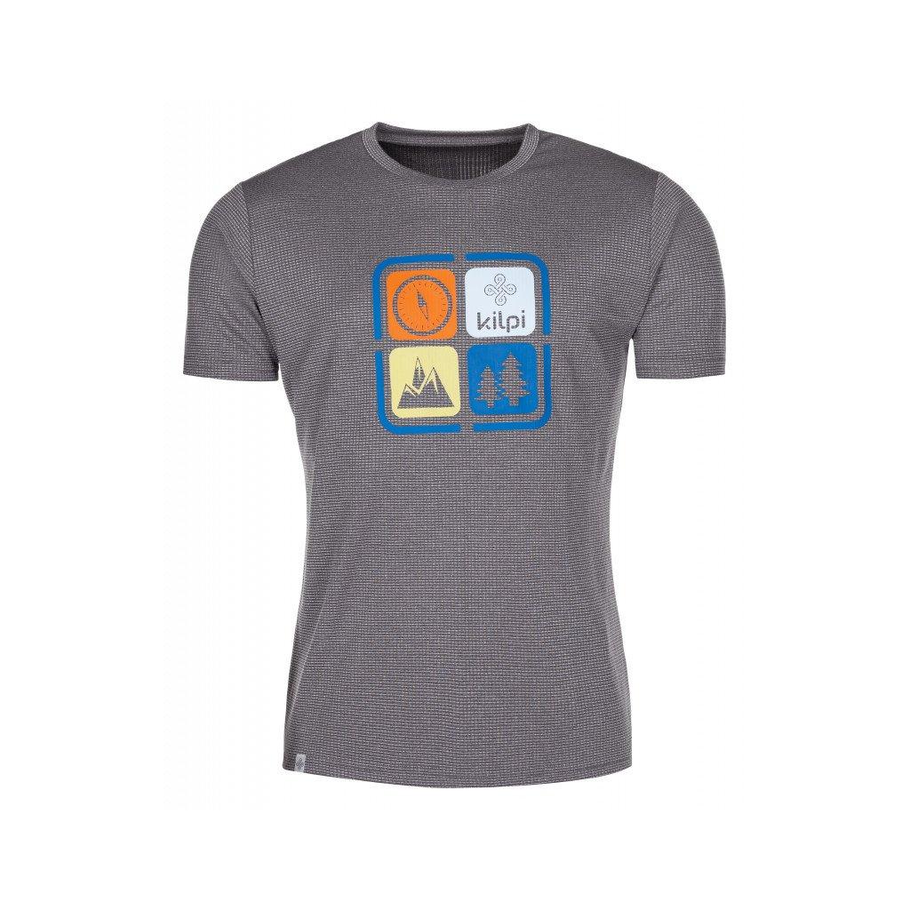 Pánské funkční tričko KILPI Giacinto-m tmavě šedá