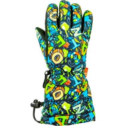 Dětské lyžařské rukavice RELAX Puzzy modré
