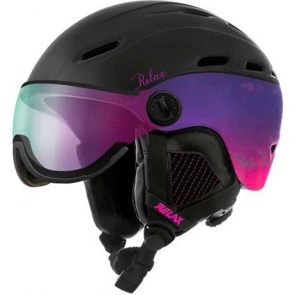Lyžařská helma RELAX Prevail Visor černá