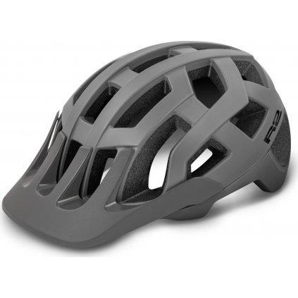 Cyklistická helma  R2 Fargo šedá