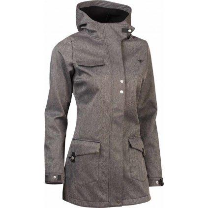 Dámský twillshellový kabát WOOX Urbem Concha Grey Chica