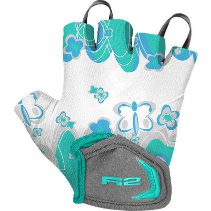 Dětské cyklistické rukavice R2 Voska modrá