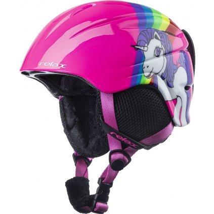 Dětská lyžařská helma RELAX Twister růžová