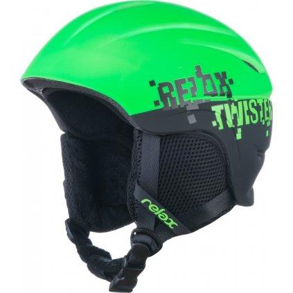 Dětská lyžařská helma RELAX Twister zelená