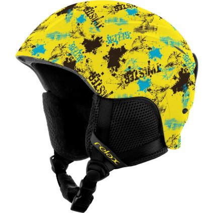 Dětská lyžařská helma RELAX Twister žlutá