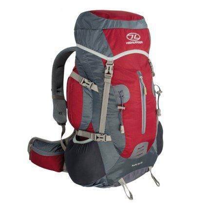Turistický batoh HIGHLANDER Rocky 35+5l červená/šedá