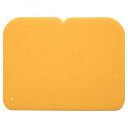 Sedátko 1vrstvé YATE, 245x190x8 mm žluté