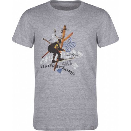 Pánské bavlněné tričko KILPI Apres-m tmavě šedá
