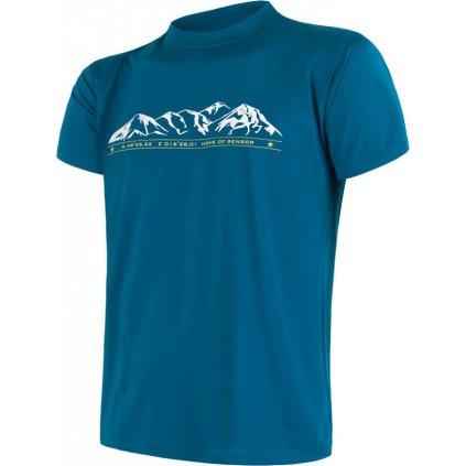 Pánské funkční tričko SENSOR Coolmax fresh pt mountains modrá
