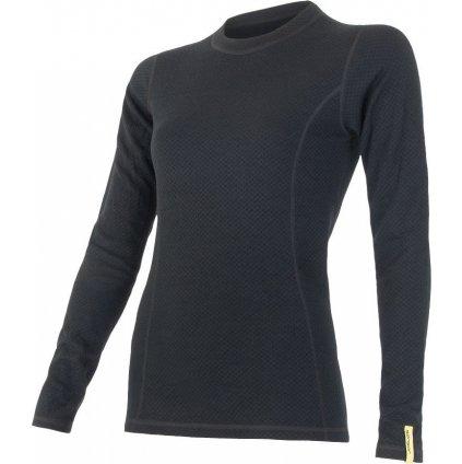 Dámské termo tričko SENSOR Merino df černá