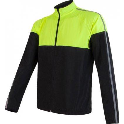 Pánská bunda SENSOR Neon černá/žlutá