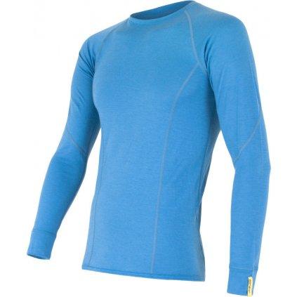 Pánské termo tričko SENSRO Merino active modrá