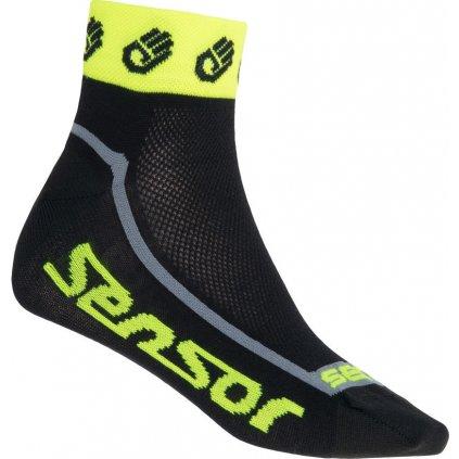 Ponožky SENSOR Race lite small hands žlutá