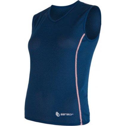 Dámské funkční triko SENSOR Coolmax Air bez rukávu tm.modrá