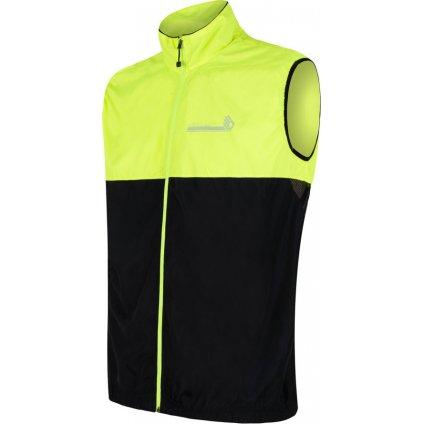 Pánská vesta SENSOR Neon černá/žlutá