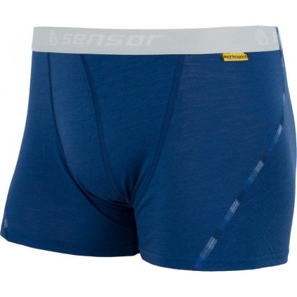 Pánské termo boxerky SENSOR Merino air modrá