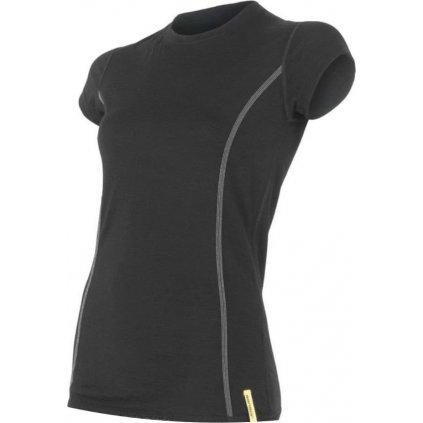 SENSOR MERINO ACTIVE dámské triko kr.rukáv černá