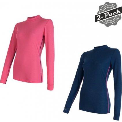 Dámské termo tričko SENSOR Original active modrá/růžová