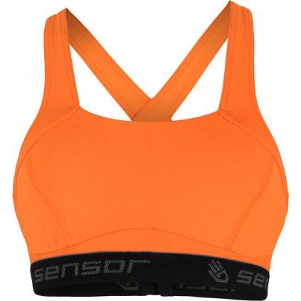 Dámská sportovní podprsenka SENSOR Stella compress oranžová