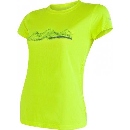 Dámské funkční tričko SENSOR Coolmax fresh pt mountains žlutá