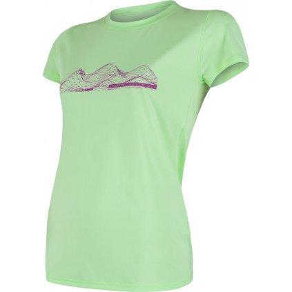 Dámské funkční tričko SENSOR Coolmax fresh pt mountains zelená
