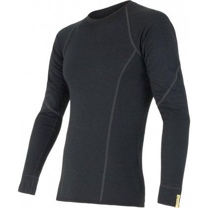 Pánské tričko SENSOR Merino active černá