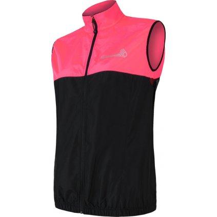 Dámská vesta SENSOR Neon černá/růžová