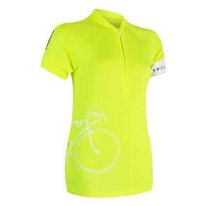 SENSOR CYKLO TOUR dámský dres kr.rukáv reflex žlutá (Akce B2B)