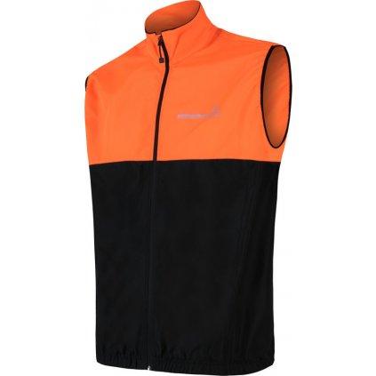 Pánská vesta SENSOR Neon černá/reflexní oranžová