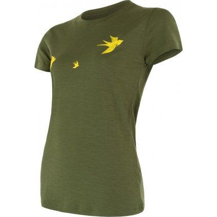 Dámské termo tričko SENSOR Merino active pt swallow zelená